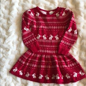 Red sweater dress. Size 18 months.